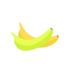 Bananas In Flat Style Design vector image