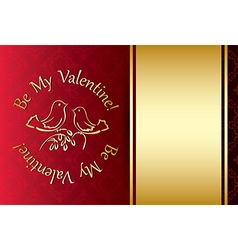 be my valentine - red background vector image