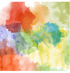 beautiful hand painted watercolor background vector image