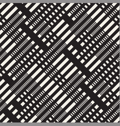 black and white dashed lines pattern modern vector image
