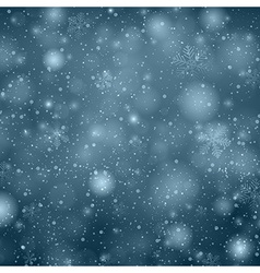 Christmas dark blue background with snowflakes vector image vector image