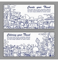 Create your travel Flier vector image vector image