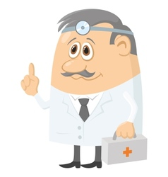 doctor with case vector image vector image