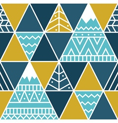 Far beyond mountains - seamless pattern vector