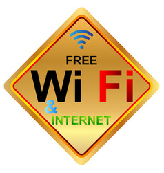 free wifi zone vector image