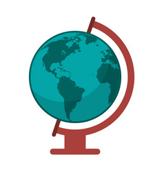 Globe world map icon vector