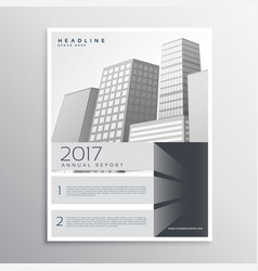 Gray brochure design template for your company vector