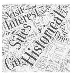 historical sites Word Cloud Concept vector image vector image