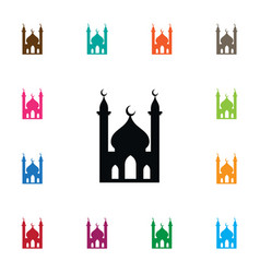 Isolated muslim icon religious element can vector