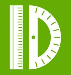 line icon green vector image vector image
