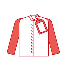 market clothes price tag new wear shirt vector image