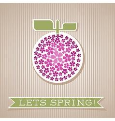 Motivation List Design With Fruit vector image vector image