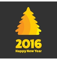 New Year 2016 sign vector image vector image