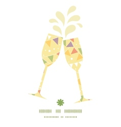 Party decorations bunting toasting wine glasses vector