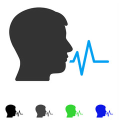 Person speech signal flat icon vector