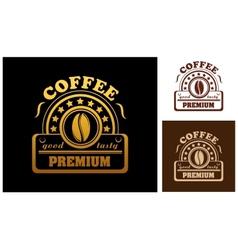 Premium Coffee label or badge vector image vector image