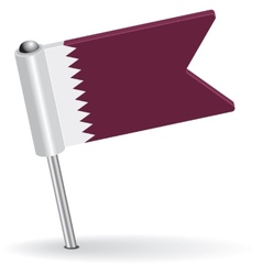 Qatar pin icon flag vector image vector image