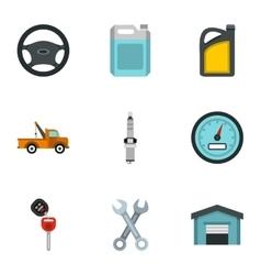 Repair machine icons set flat style vector