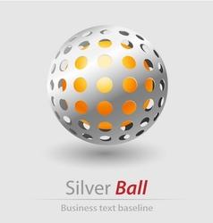 Silver ball elegant icon vector