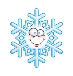 Snowflake Head Smiley vector image