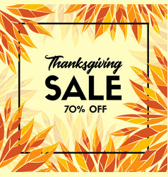 thanksgiving sale banner promo template vector image