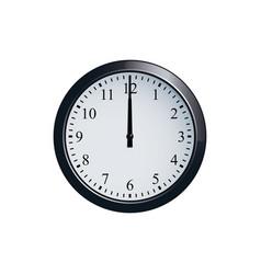 wall clock set at 12 o clock vector image vector image