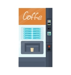 Vending machine for coffe office interior vector