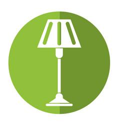 Floor lamp decoration shadow vector