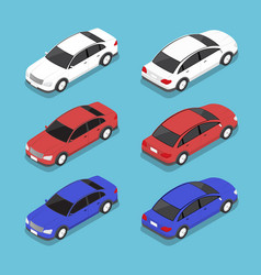Flat 3d isometric car vector