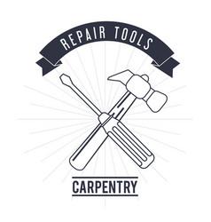 Hammer screwdriver tool icon repair concept vector