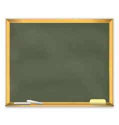 Retro school chalkboard vector