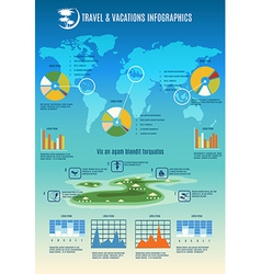 Travel info graphic vector image
