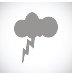Storm black icon vector