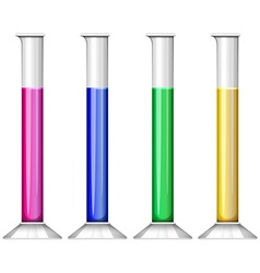 Liquid substance in test tube vector