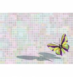 flying butterfly vector image