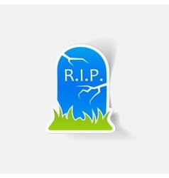 Realistic design element tombstone vector