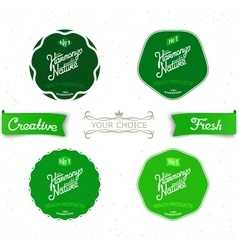 Set vintage labels on the theme of nature vector