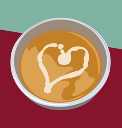 Bowl of soup vector