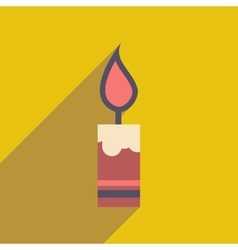 Flat icon with long shadow christmas candle vector