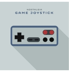 Game joystick controller from consoles to the TV vector image