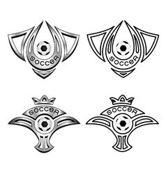 football emblemlogo vector image