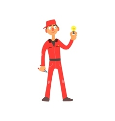 Profession electrician vector