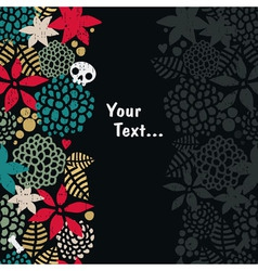 Foliage with skull background vector