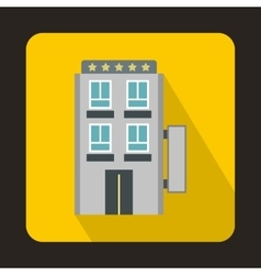 Five star hotel icon in flat style vector
