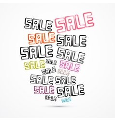 Abstract Grunge Sale Titles vector image vector image