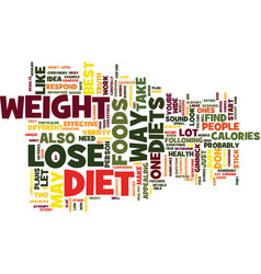 Best way to lose weight keep it off text vector