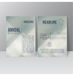Brochure annual report vector