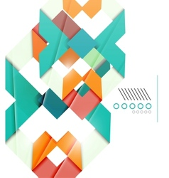 Colorful realistic geometric shape design template vector