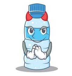 Devil bottle character cartoon style vector
