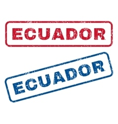Ecuador rubber stamps vector